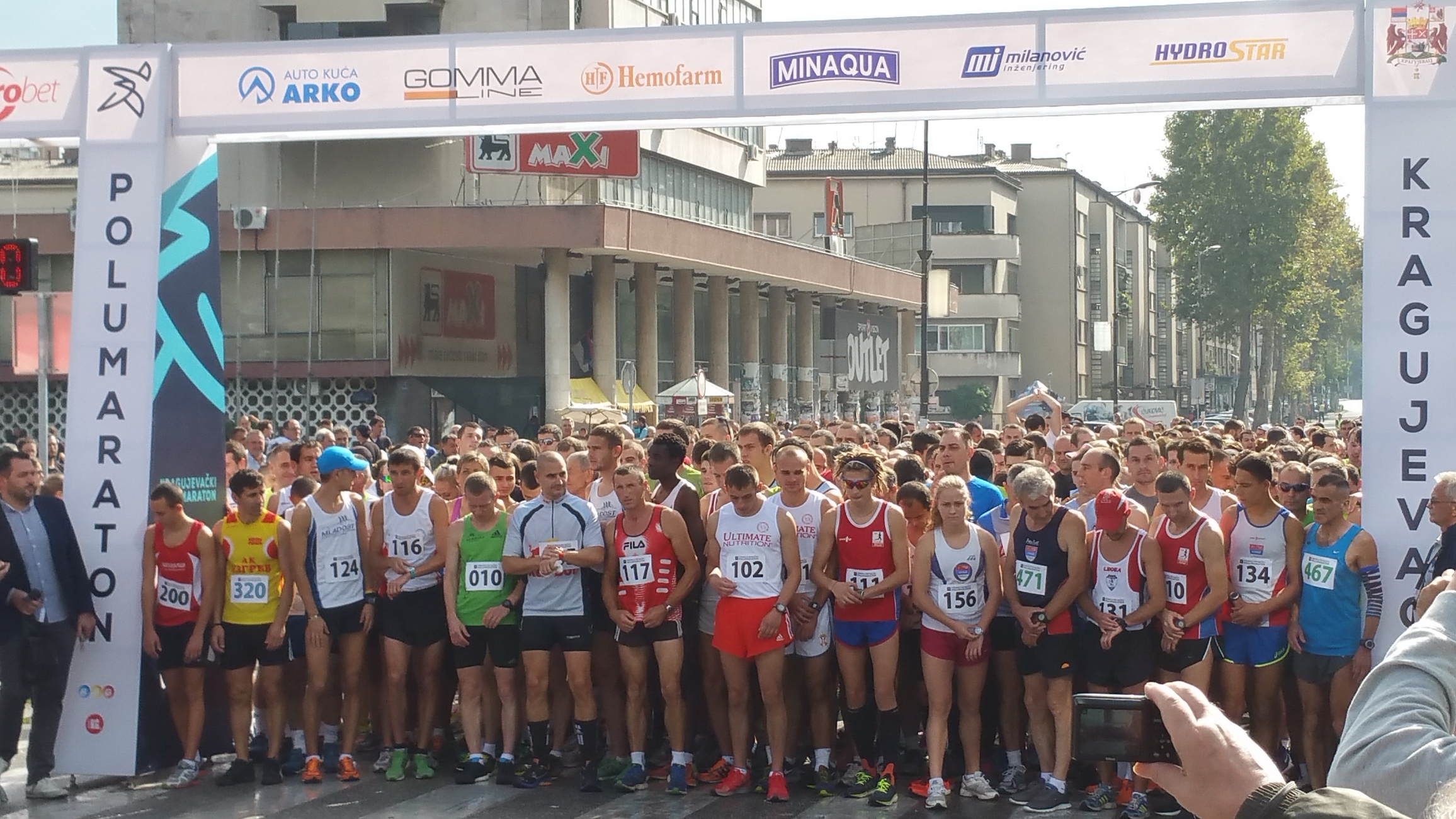 Hemofarm and 'Magnetrans' at Half Marathon in Kragujevac