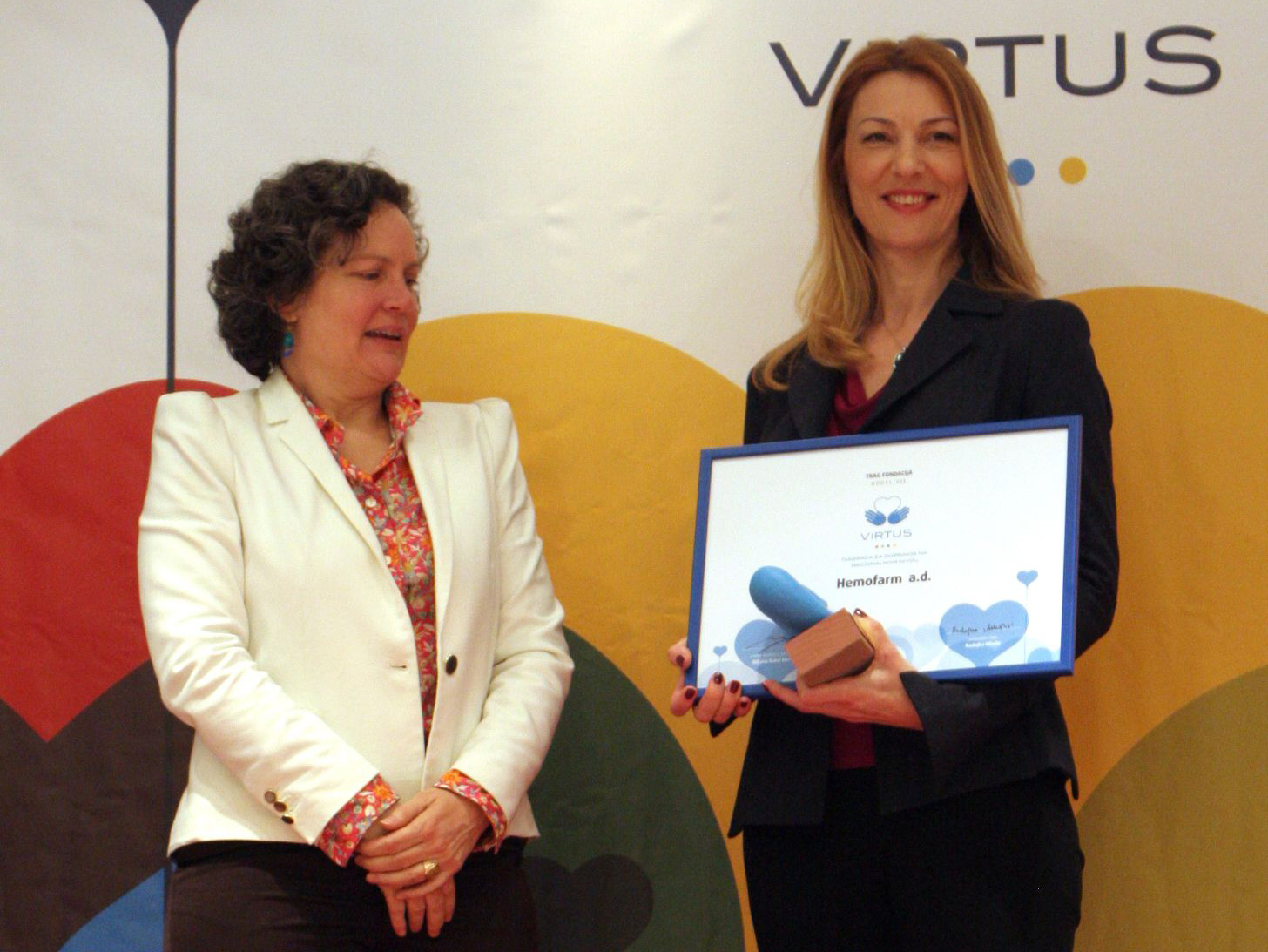 Hemofarm received VIRTUS, principal award for philanthropy