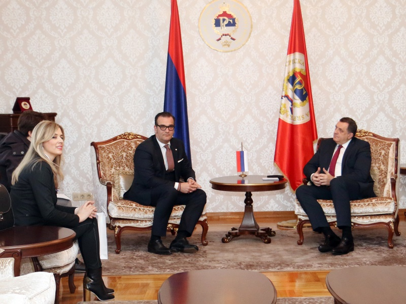 President of Republika Srpska in a Meeting with Representatives of Hemofarm