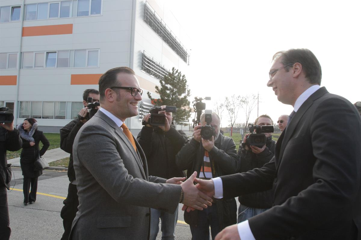 Prime Minister of Serbia Hemofarm's guest at the opening of the Quality building
